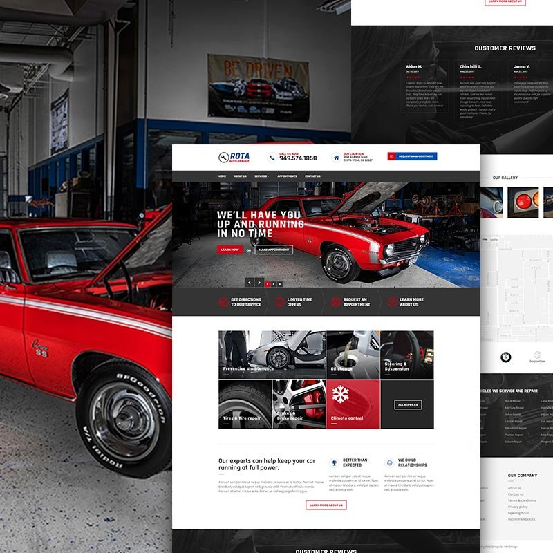 Orange County Mechanic Web Design Costa Mesa CA