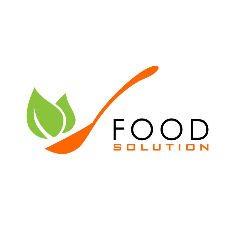 Food Solution Trendy Healthy Restaurant Logo