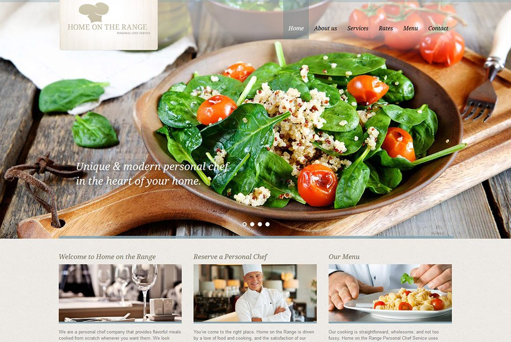 Orange County Personal Chef food website design