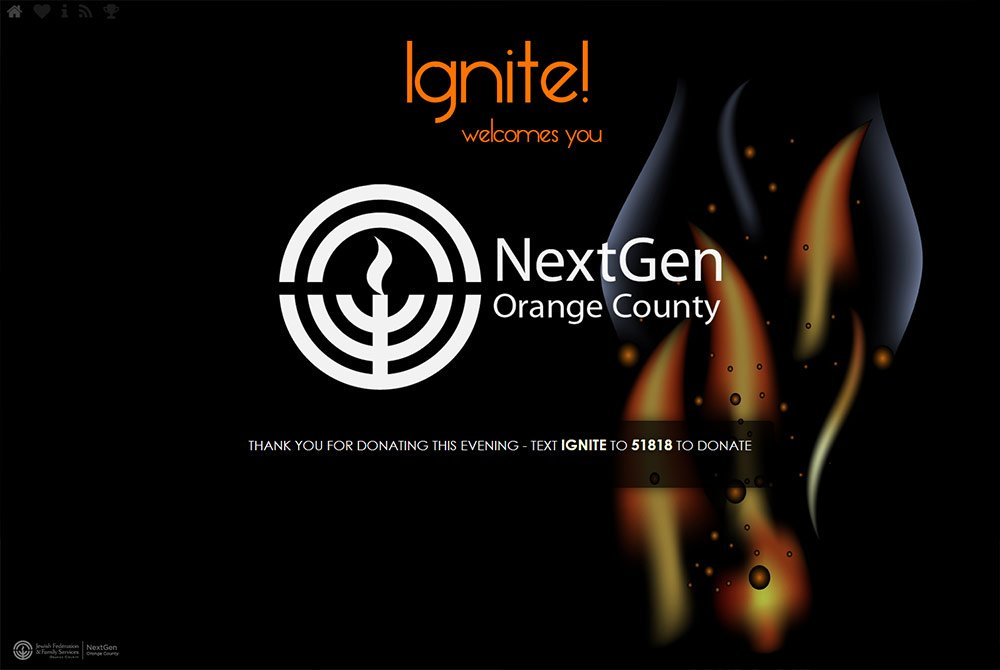Non-profit landing page event web design for Ignite
