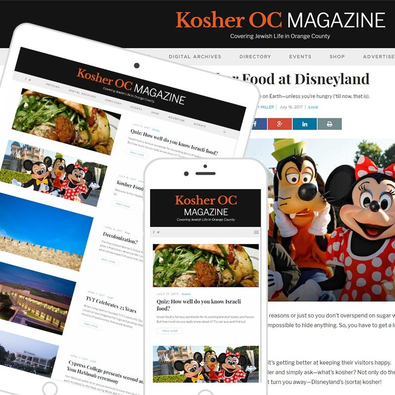 Orange County lifestyle magazine website design