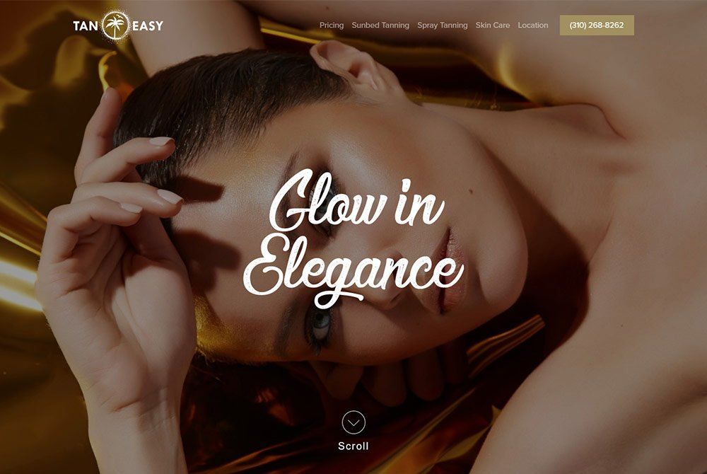 WordPress Tanning Salon Website design Cosa Mesa, CA