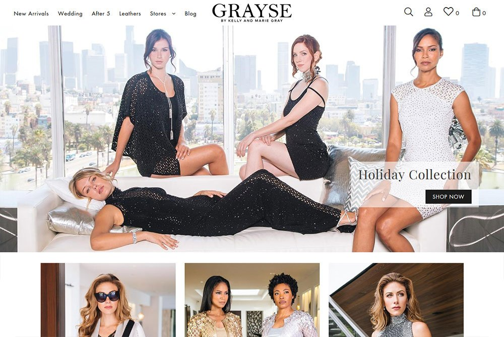 Grayse eCommerce fashion newport beach shopify website design