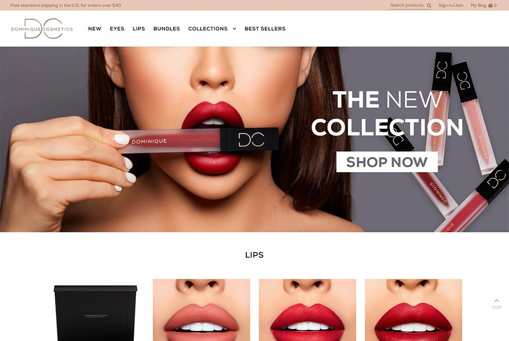 cosmetics makeup fashion shopify ecommerce website design
