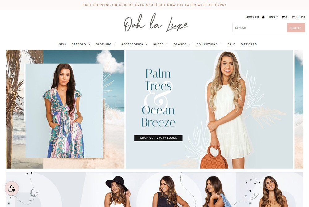 shopify fashion custom web design