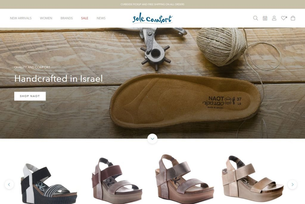sole comfort fashion ecommerce shopify website newport beach