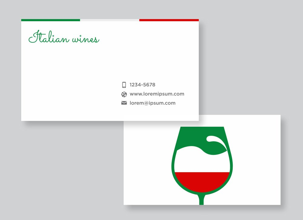 Italian Wines winery free business card design
