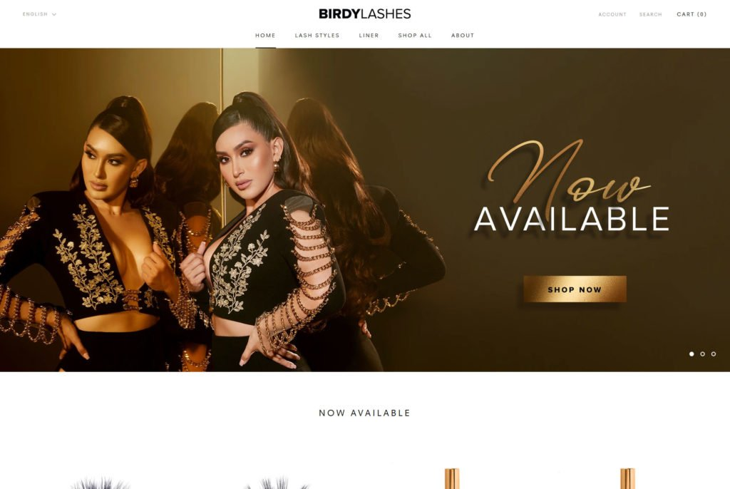 eCommerce SHpoify makeup website design preview