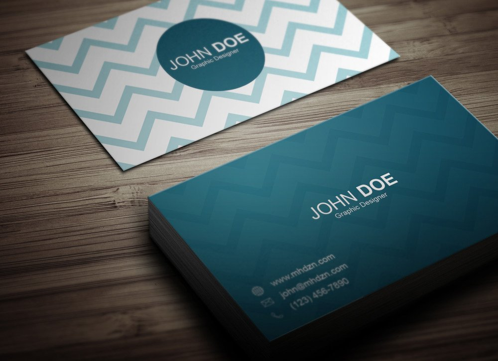 Chevron Business Card - MagicHat Web Design