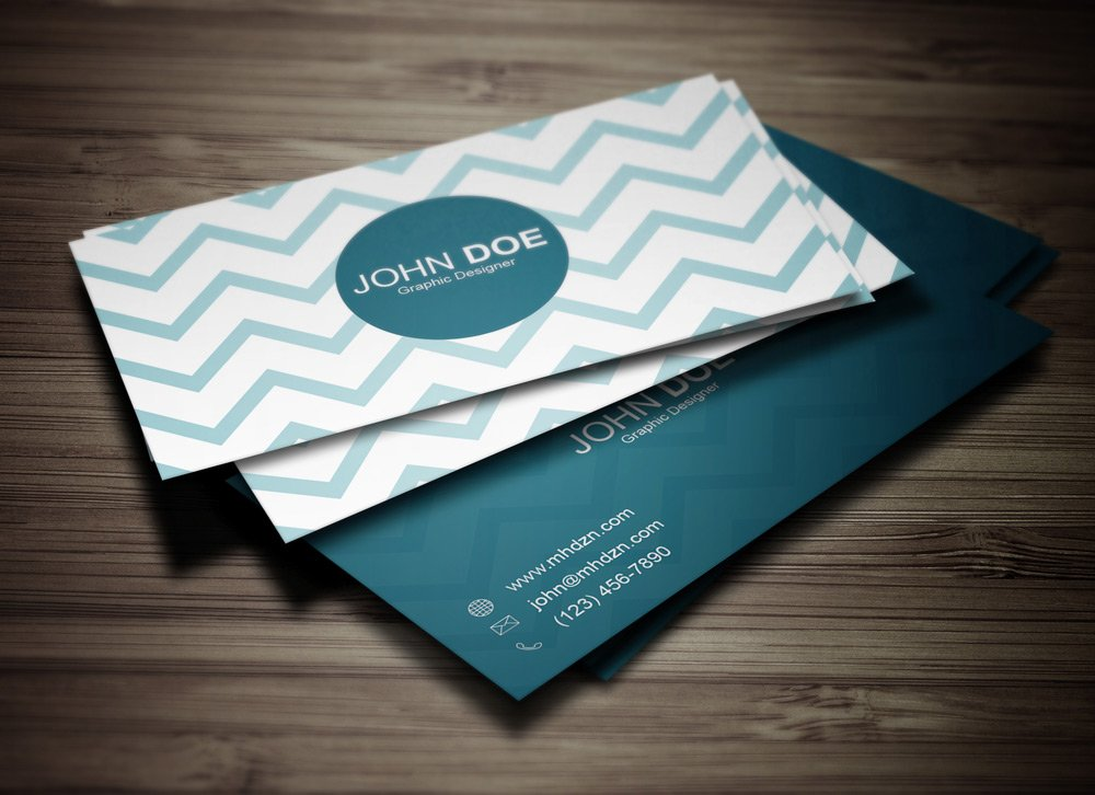 Chevron business card magichat web design colourmoves