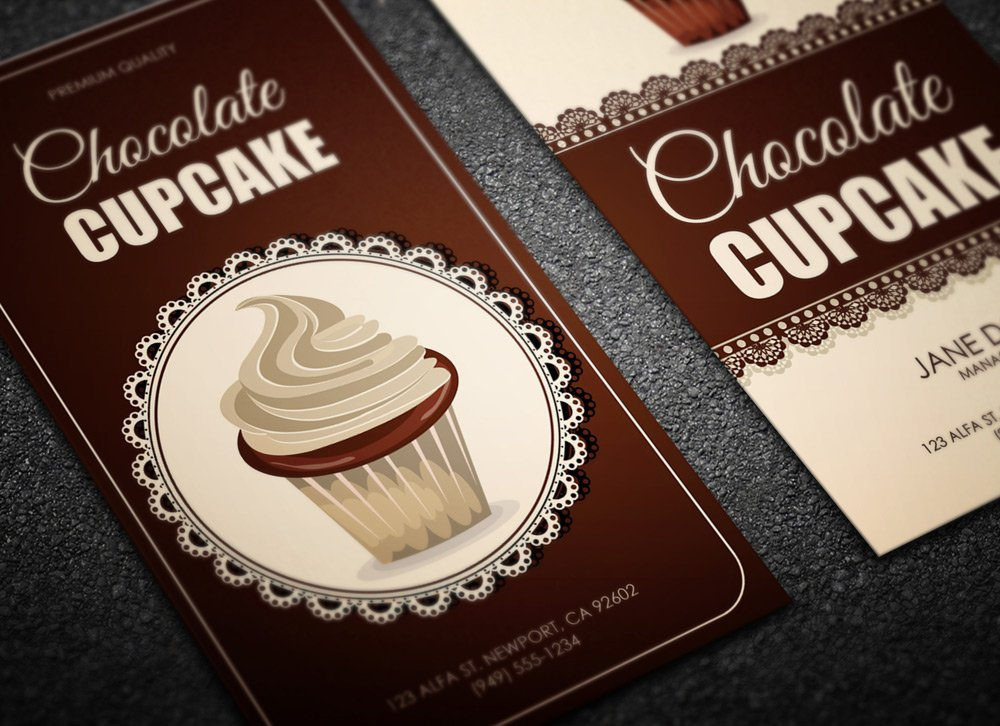 Cupcake shop business card magichat web design free download reheart Images
