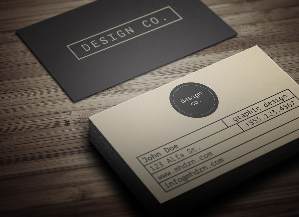 Retro Minimalist Business Card - MagicHat Web Design